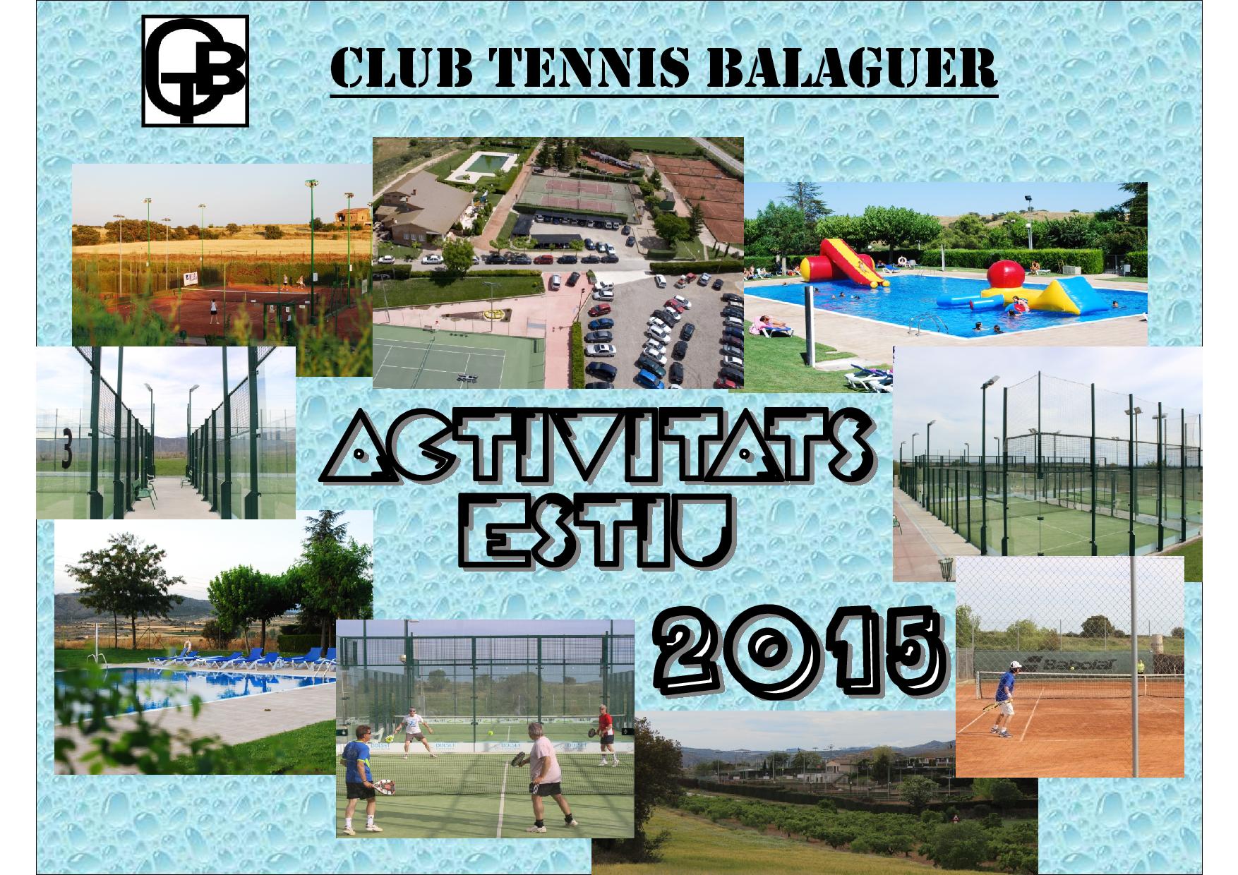 Activitats CTB - Estiu 2015_