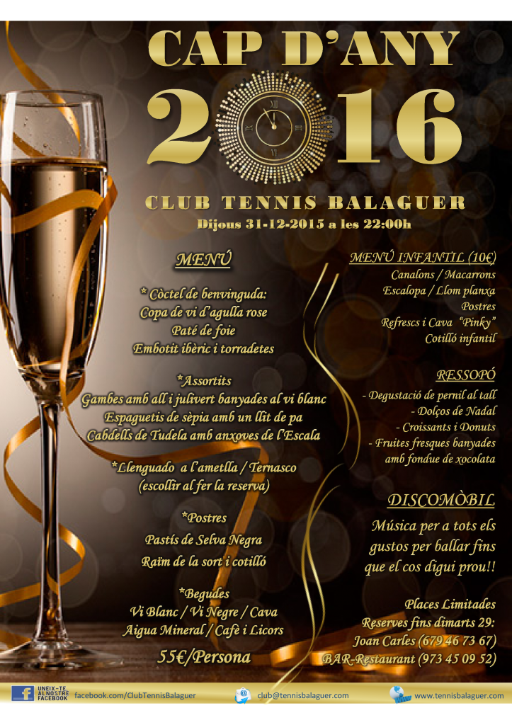 Sopar de Cap d'Any 2016 a CTBalaguer_